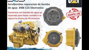 bomba de agua caterpillar 3406 c15 guatemala youtube