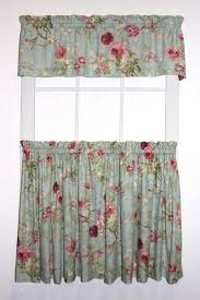 balmoral gardens floral print tailored tiers u0026 valance window