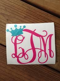 monogram stickers monogram glitter tiara vinyl stickers chickadee s designs