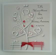 personalised on our wedding anniversary card husband 1st 2nd