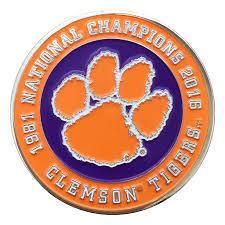 Clemson Flags National Champions Clemson Challenge Coin Mr Knickerbocker