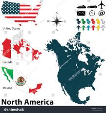 Political Map Of Mexico Vector Political Map North America Set Stock Vector 164399687