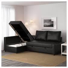 Corner Sofa Sleeper Friheten Corner Sofa Bed With Storage Bomstad Black Ikea
