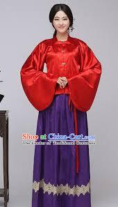 asian chinese ming dynasty long dresses hanfu costume clothing