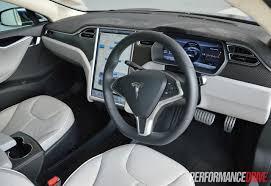 Tesla Interior Model S Tesla Model S P85 Review Video Performancedrive