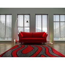 Tapis De Salon Rouge by Moderne Luxury I