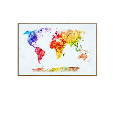 World Map Art Print by Online Buy Wholesale Colorful World Map Canvas From China Colorful