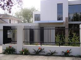 modern metal fence home design ideas