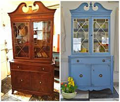 heir and space an antique china hutch in wedgwood blue