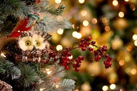 white owl christmas tree decorations