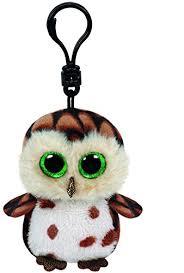 amazon ty beanie boo plush sammy owl clip 3