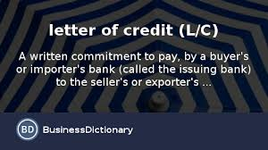 what is letter of credit l c definition and meaning