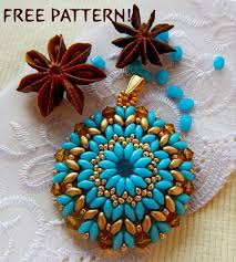 free pattern for beaded pendant cinnamon beads magic