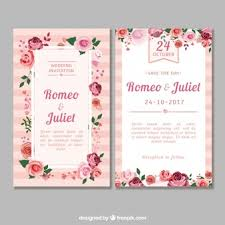 wedding invitation pictures floral wedding invitation vector free