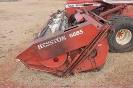 1982 hesston 6650 self propelled swather item h8326 sold