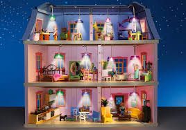 modern dollhouse kitchen light set for deluxe dollhouse 5303 6456 playmobil usa