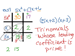 showme tic tac toe factoring