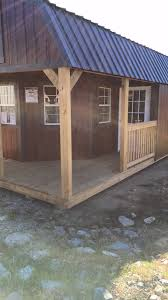 Derksen Portable Finished Cabins At Enterprise Center Youtube Deluxe Lofted Barn Cabin Premier Portable Buildings Of