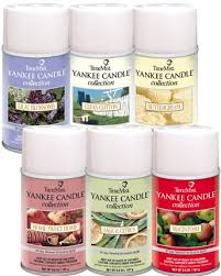 yankee candle fragrances in metered aerosols