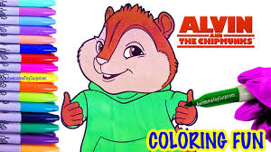 theodore coloring fun alvin chipmunks coloring