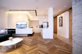 faux plafond design cuisine design interieur cuisine sans poignée parquet massif faux plafond