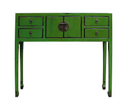 Green Console Table Distressed Green Console Table Chairish