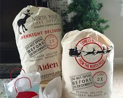 personalized santa sack santa sack personalized name christmas bag gift girl or boy