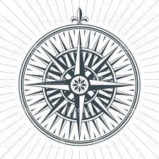 wind art vintage old antique wind rose nautical compass sign label emblem