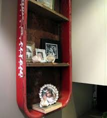 small black white glass door bookcase mixed red flower red