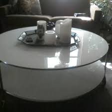 ikea strind coffee table find more ikea s strind 2 tier white glass coffee table on casters