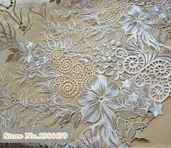 Wedding Dress Fabric Aliexpress Com Buy Noble Champagne Gold Lace Fabric Sequins
