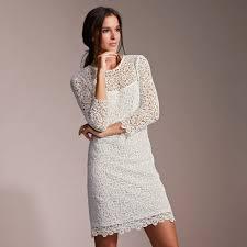 robe ecru pour mariage robe courte de soirée doublée dentelle guipure femme premium