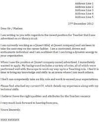 cover letter for a teacher icover org uk