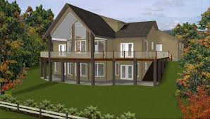 stylish idea hillside walkout basement house plans plan