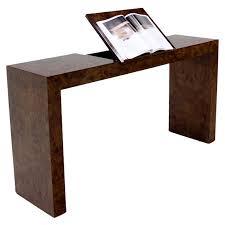 Walnut Sofa Table by Mid Century Burl Wood Walnut Adjustable Lift Tilt Top Console