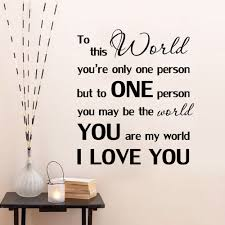 decorative wall art stickers picture more detailed picture about you are my world quote wall sticker romantic love wall art decals bedroom living