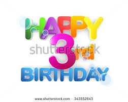 happy 3rd birthday title big letters stock illustration 343552643