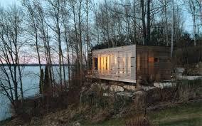 Prefabricated Cabins And Cottages by Sunset Cabin A Modern U0027primitive Hut U0027 Coastal Homes Prefab Cabins