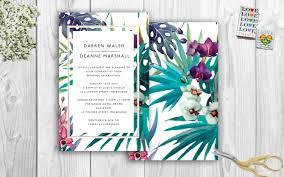 tropical wedding invitations tropical wedding invitations