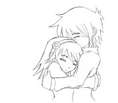 pictures sketch of animes hug drawing art gallery