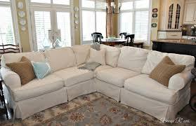 white slipcovered sectional sofa aecagra org