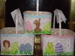 painted easter baskets easter baskets paper baskets tip junkie