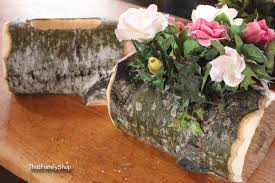 wood log vases log flower vase rustic wedding table centerpiece decoration