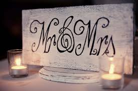 Mr And Mrs Wedding Signs Fantastic Diy Wedding Signs Huffpost