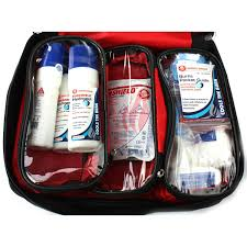 burnshield responder kit in a red bag