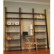 rustic free standing corner unfinished wooden open shelves modern