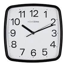 silent wall clocks retro square black silent sweep wall clock