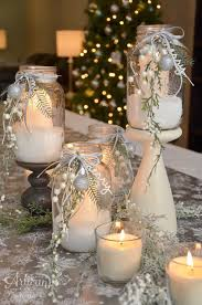 christmas decor for center table stin dolce white christmas table center piece fancy friday