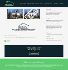 home inspection web design sample websites for home inspectors