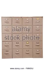 Used File Cabinet Old Filing Cabinets Stock Photo Royalty Free Image 16625567 Alamy